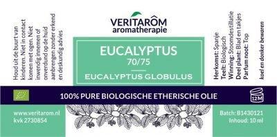 Eucalyptus biologisch etherische olie label