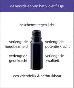 flesjes van violet glas voordelen