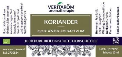Koriander zaad biologische etherische olie