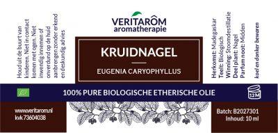 Kruidnagel biologische etherische olie label