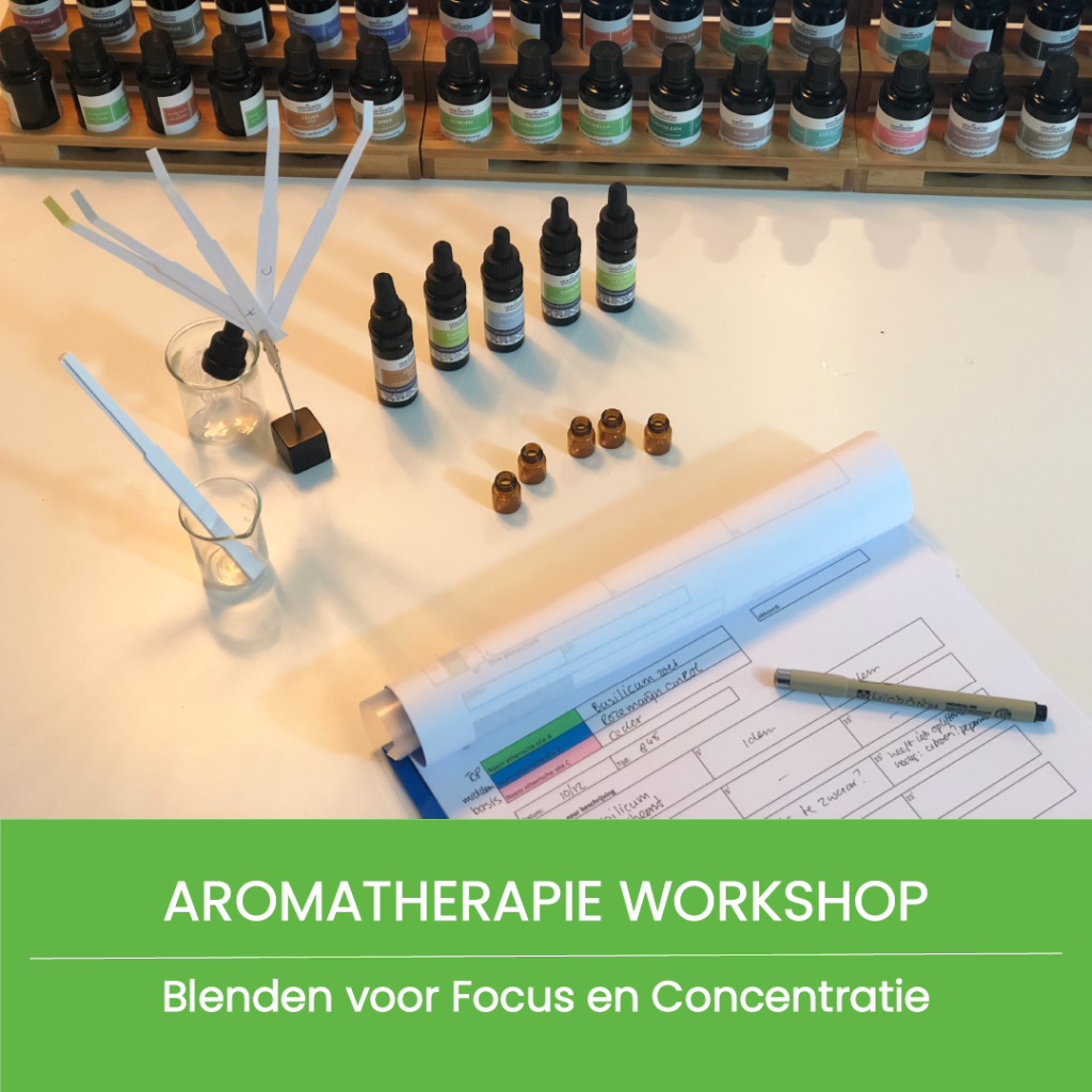 aromatherapie workshop blenden voor focus en concentratie