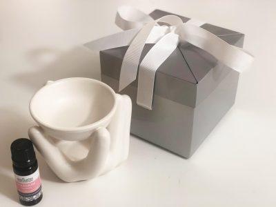 moederdag cadeautje aromalamp wit met geranium