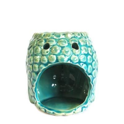 blauwe buddha aromalamp achterkant