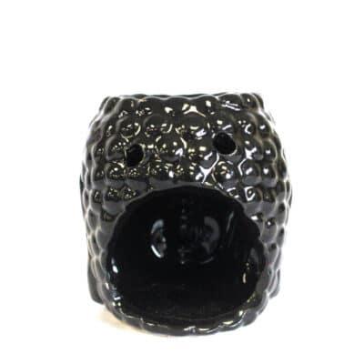 zwarte buddha aromalamp achterkant