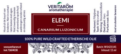 elemi etherische olie label