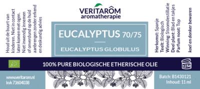 Eucalyptus globulus etherische olie label