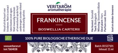 frankincense etherische olie label