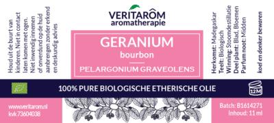 geranium bourbon etherische olie label