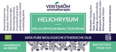 helichrysum bracteiferum etherische olie label