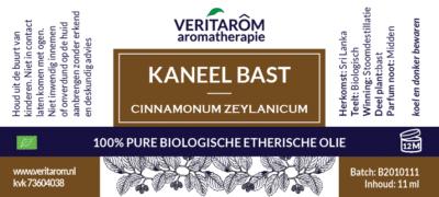 kaneelbast etherische olie label