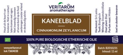 Kaneelblad etherische olie label