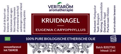 kruidnagel etherische olie label