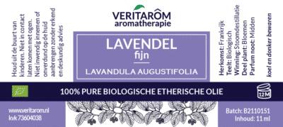 lavendel fijn etherische olie label
