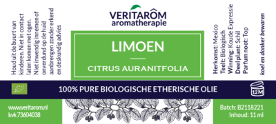 limoen etherische olie label