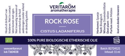Rock Rise etherische olie label