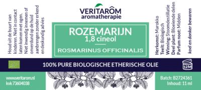 Rozemarijn etherische olie label