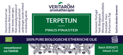 Terpetijn etherische olie label