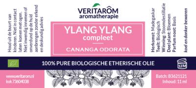 Ylang Ylang compleet etherische olie label
